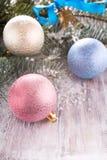 Kleurrijke Kerstmisballen Stock Fotografie