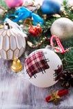 Kleurrijke Kerstmisballen Royalty-vrije Stock Foto's