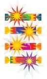 Kleurrijke Kerstmiscrackers (vector) vector illustratie