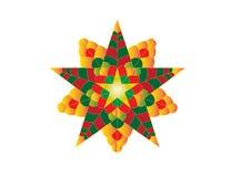 Kleurrijke Kerstmislantaarn Stock Foto