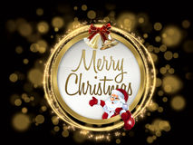 Kleurrijke Kerstmiswens Royalty-vrije Stock Fotografie