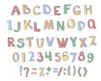 Kleurrijke kinderen ABC voor uw ontwerp Royalty-vrije Stock Afbeelding