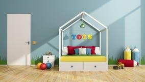 Kleurrijke kinderenslaapkamer Royalty-vrije Stock Afbeelding