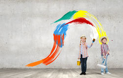 Kleurrijke kinderjaren Stock Fotografie
