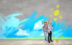 Kleurrijke kinderjaren Stock Foto's