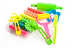 Kleurrijke klei voor kinderen Stock Fotografie