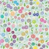 Kleurrijke Klein meer bloeit Naadloos Patroon Stock Afbeelding