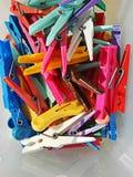 Kleurrijke klemmen Royalty-vrije Stock Afbeelding