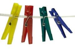 Kleurrijke kleren-rotaties Stock Fotografie