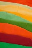 Kleurrijke klerenclose-up Stock Foto's