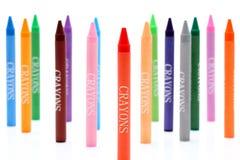 Kleurrijke kleurpotloden Stock Afbeelding