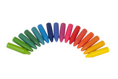 Kleurrijke kleurpotloden Stock Afbeeldingen