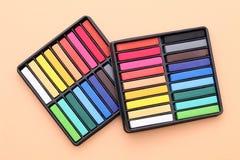 Kleurrijke kleurpotloden Stock Foto
