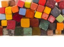Kleurrijke kleurpotloden Royalty-vrije Stock Foto's