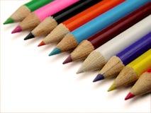 Kleurrijke kleurpotloden royalty-vrije stock foto