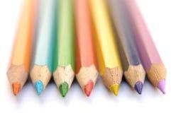 Kleurrijke kleurpotloden III Royalty-vrije Stock Foto's