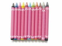 Kleurrijke kleurpotloden voor jonge geitjes Stock Afbeeldingen