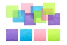 Kleurrijke kleverige nota's royalty-vrije stock foto's