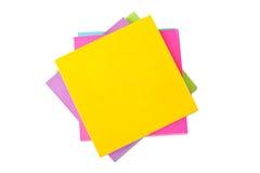 Kleurrijke kleverige nota's. Royalty-vrije Stock Foto's