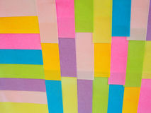 Kleurrijke kleverige nota's als achtergrond Stock Afbeelding