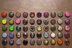Kleurrijke knopen Stock Foto's