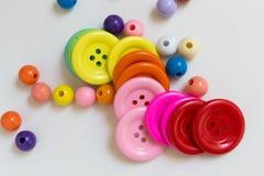 Kleurrijke Knopen en Parels Royalty-vrije Stock Afbeelding
