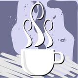 Kleurrijke Koffieachtergrond met kop Stock Afbeelding