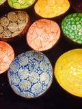 Kleurrijke kokosnotenshells Stock Foto