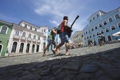 Kleurrijke Koloniale Architectuur Pelourinho Salvador Brazil Royalty-vrije Stock Afbeelding