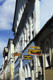 Kleurrijke koloniale huizen, Salvador, Brazilië Stock Foto's