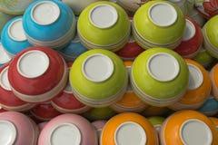 Kleurrijke kommen Stock Afbeelding