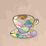 Kleurrijke kop van koffie Royalty-vrije Stock Afbeelding