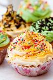 Kleurrijke kopcake Stock Foto