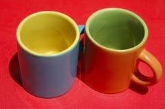 Kleurrijke koppen royalty-vrije stock afbeelding