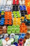 Kleurrijke koppen Royalty-vrije Stock Foto's