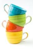 Kleurrijke koppen stock fotografie
