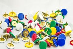 Kleurrijke kopspijkers Royalty-vrije Stock Fotografie