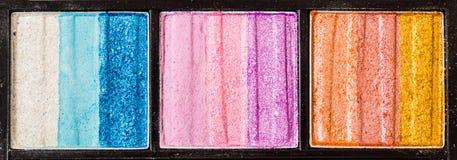 Kleurrijke kosmetische paletreeks Stock Afbeelding