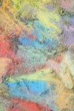 Kleurrijke Krijtachtergrond Stock Foto's