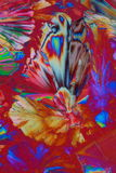 Kleurrijke kristalachtergrond stock foto