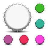 Kleurrijke kroonkurken Stock Foto's