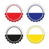 Kleurrijke kroonkurken Royalty-vrije Stock Foto's