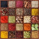 Kleurrijke kruidachtergrond royalty-vrije stock afbeeldingen