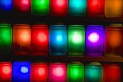 Kleurrijke kruiken Stock Fotografie