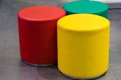 Kleurrijke krukken Stock Foto