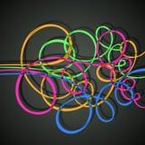 Kleurrijke krullen stock illustratie