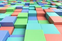 Kleurrijke kubieke achtergrond Stock Fotografie