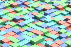 Kleurrijke kubieke achtergrond Stock Afbeeldingen
