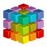 Kleurrijke kubus royalty-vrije illustratie