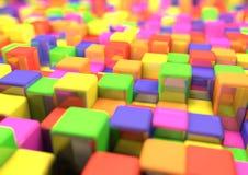 Kleurrijke kubus bedrijfsachtergrond voor presentatie Stock Fotografie